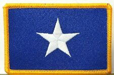 BONNIE BLUE FLAG PATCH TEXAS STAR SOUTHERN FLORIDA Iron On Patch Gold Border #04