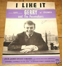 Gerry & THE pacemakers ~ MI PIACE ~ VINTAGE UK CANZONE SPARTITO SHEET 1963