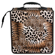 512 Capacity Practical CD DVD Holder Wallet Case Bag Media Storage Leopard