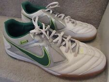 Nike Gato 5 Five Mens Indoor Soccer Shoes White Green 415122-137 Size 11.5  EUC