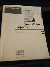 Sony KP-46XBR35/KP-53XBR35/KP-61XBR38 Rear Video Projector TV Operator's Manual