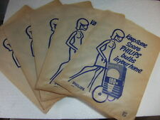 Keep Spare Philips Light Bulbs in Your Home 5 x advertising Paper Bag c 1970