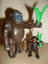 PLAYMOBIL GORILLA WITH BABY (animals for Zoo,silver backs)