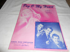 1913 Vintage sheet music Peg O'My Heart