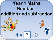 Year 1 MATHS NUMBER ADDITION & SUBTRACTION IWB & printable teaching resources CD