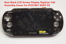 New Black LCD Screen Display Digitizer Full Assembly frame For PCH1001 SONY PS