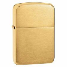 "Zippo ""1941 Replica"" Lighter, Brushed Brass Finish, Full Size, 1941B"
