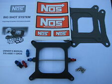 NOS/NITROUS/NX/ZEX/EDELBROCK/ NOS BIGSHOT HOLLEY 4150 PLATE KIT 175-400HP-NEW!