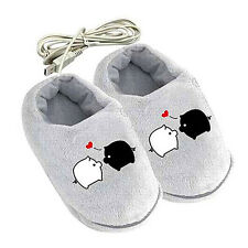 Sweet Good Cartoon Pig USB Heating Cushion Slippers Heated Shoes for Foot Warmer