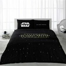 Licensed Star Wars Duvet Cover %100 Cotton Queen Size Bedding Set Fitted Sheet