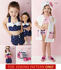 SALE! SEWING PATTERN! MAKE GIRL~DOLL RETRO~40S~50S~SWIMSUIT~FIT AMERICAN GIRL