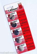 CR2032 Battery 5 pieces. 3V Lithium Button Coin Cell Made In Japan