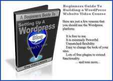 Beginners Guide To Building a WordPress Website - Video Course For DVD Player