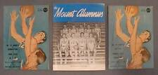 Lot of (3) 1950s-60s Mt. St. Mary's NCAA Basketball Programs/Yearbooks