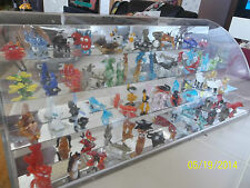 Rare HTF  Hand Blown Glass Animal Display 48 figures, mirrored case