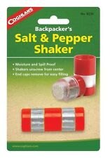 Camping compact Salt and Pepper shaker spill proof