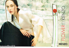 PUBLICITE ADVERTISING 065  2001  KENZO  parfum FLOWER  ( 2 pages)