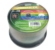 50 Hi-Disc DVD+R DL Dual Layer DVD Discs Inkjet Printable DVD 8.5GB 8x Speed