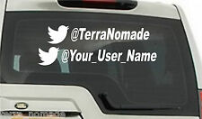 2 X Big Custom Twitter Handle, Advertising Stickers, Vinyl, Decals, Cars, Vans,