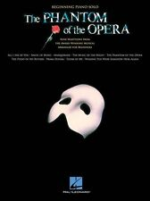 The Phantom Of The Opera Beginning Piano Solo Learn to Play Easy Music Book