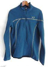 Oakley Fleece Sweats Zip up Size L Polyester Blue Long Sleeved