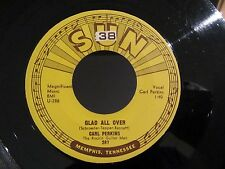 Rockabilly 45 CRL PERKINS Glad All Over / Lend Me Your Comb SUN 287
