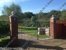 # SAXON DOUBLE DRIVEWAY WROUGHT IRON GATES 6' TALL 12FT WIDE BEST SELLER QUALITY