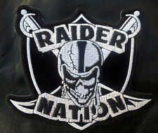 RAIDER NATION EMBROIDERED  IRON ON 4.5 PATCH