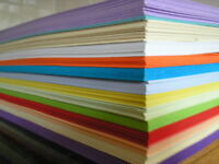 2 to 50 sheets of A4 size card (160gsm) in 10 assorted colours.