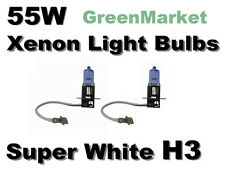 Chrysler 99-04 300M/ 94-01 LHS Fog Light H3 Xenon 55w Super White Bulbs-
