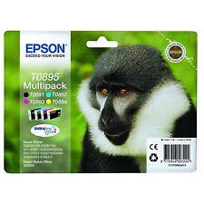Epson Original T0895 Monkey Multipack Ink Cartridges for Styus SX100 105 SX Sers