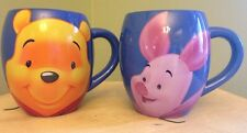 Piglet Pooh Disney Tams Thailand Mugs Blue Retired Cup Coffee Set
