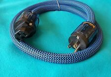 BLE Design 12mm Hi-End Rhodium Plated  Audiophile Audio Power Cable Cord - 3 Ft