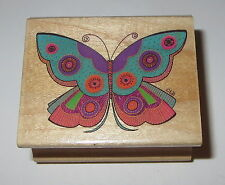Summer Butterfly Rubber Stamp Laurel Burch Rare Fancy Wings Good Condition HTF