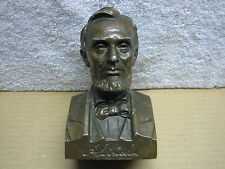 The Lincoln National Life Insurance Co. Abraham Lincoln Metal Coin Bank Bust