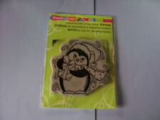 STAMPENDOUS RUBBER STAMPS CLING PEN PATTERN PENGUIN STAMP