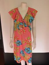 BNWT Paper Dolls 12 RRP £35 Wrapover Dress Bold Floral Print Midi grey pink blue
