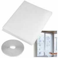WINDOW INSECT NETTING KIT White Fly/Bug Mosquito Curtain Screen Mesh Net Cover