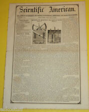 Scientific American Mag 01/31/1852 Machine For Measuring The Flow of Water See!