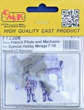 CMK F72308 Resin 1/72 Two French Pilots & Mechanic for Mirage F1.B