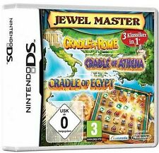 Nintendo DS 3DS CRADLE OF ROME + EGYPT + ATHENA DEUTSCH Jewelmaster TopZustand