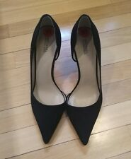 Michael Kors Women's Shoes Black Suede D'Orsay Pointed Toe Pumps Sz 10M/41M