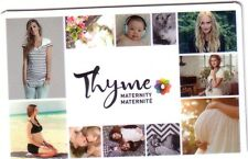THYME MATERNITY Limited Ed COLLECTIBLE Gift Card New No Value bilingual