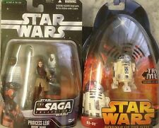 Star Wars : Saga Collection Princess Leia Boushh Disguise & ROTS R2D2