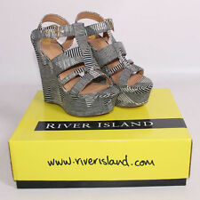 Platform Wedge Shoes  ( River Island ) Size UK 5  New Boxed. rrp £50.00