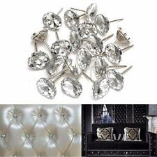100X 20mm Crystal Nails Tacks Studs Pins Dia Buttons Sofa Wall Upholstery Decor