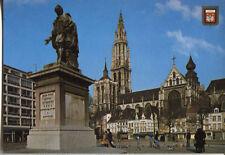 Alte Postkarte - Antwerpen - P.P. Rubens-Denkmal und Dom Unsere Liebe Frau