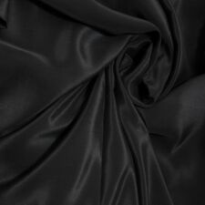 "Silk Fabric 0.5 Yards 45"" wide 12mm scdc  Pure Silk Crepe Silk De Chine Black"