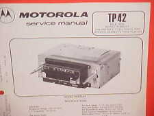 1979 MOTOROLA CAR AUTO CASSETTE TAPE/AM-FM STEREO RADIO SERVICE MANUAL TC883AX
