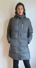 NIKE VARSITY 550 DUVET DOWN HOODED QUILTED SILVER PARKA COAT JACKET ~L